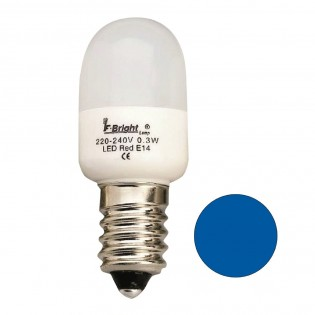 Bombilla LED Pebetera Mini Azul E14 (0.3W)