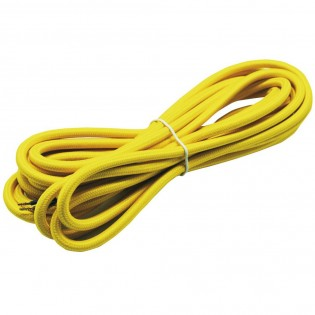 Cable textil amarillo