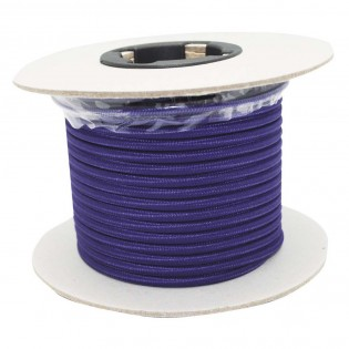 Rollo cable textil morado